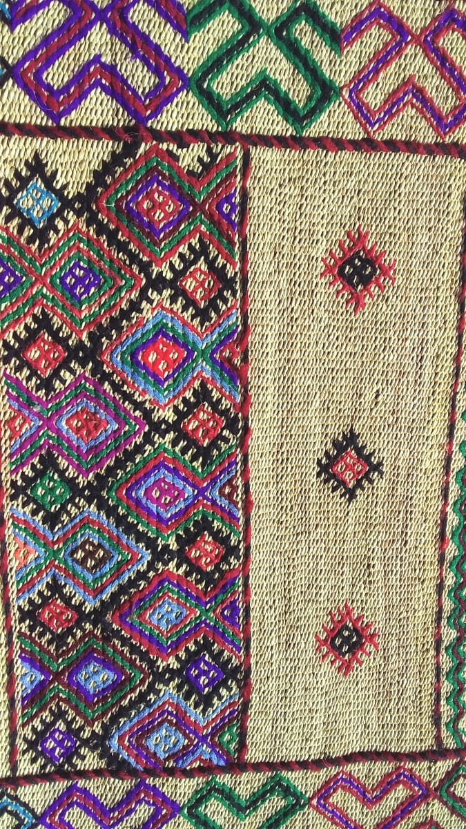 Reed rug  Colored Morocco