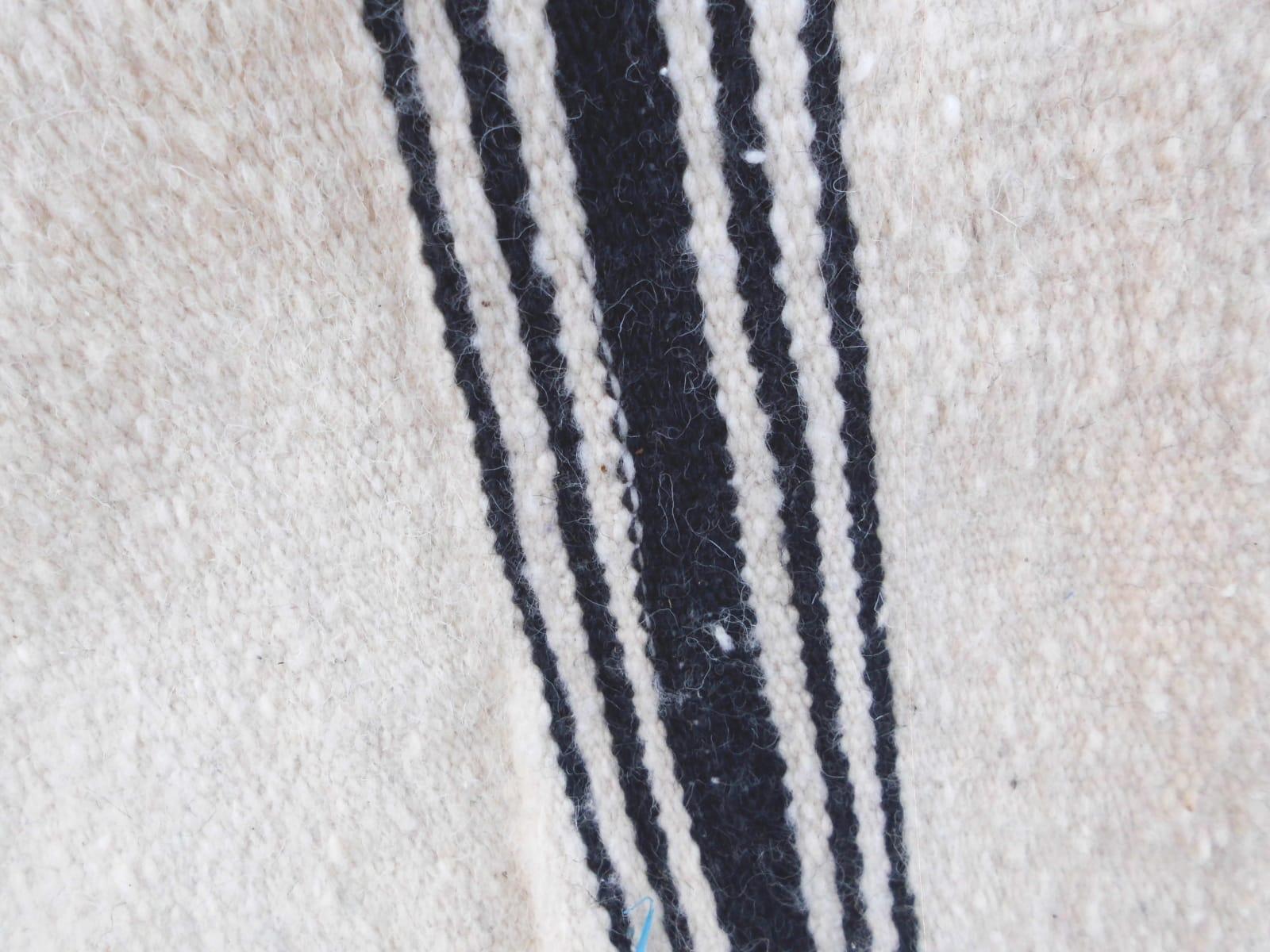 Flatweave Rug  White Morocco