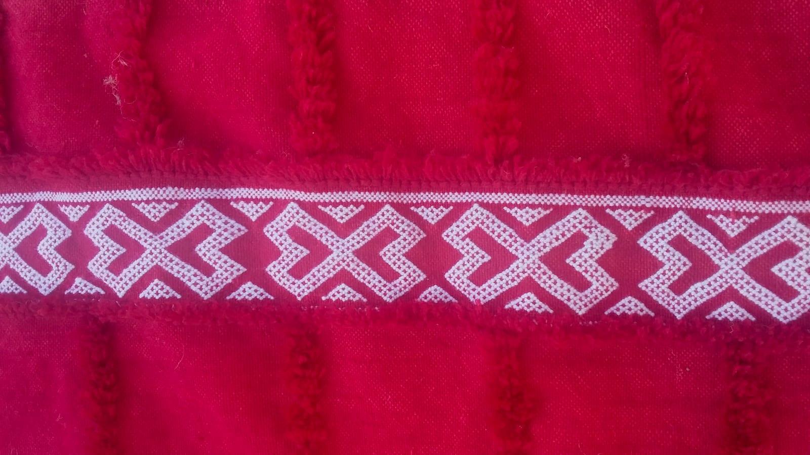Flatweave  Red, White Morocco