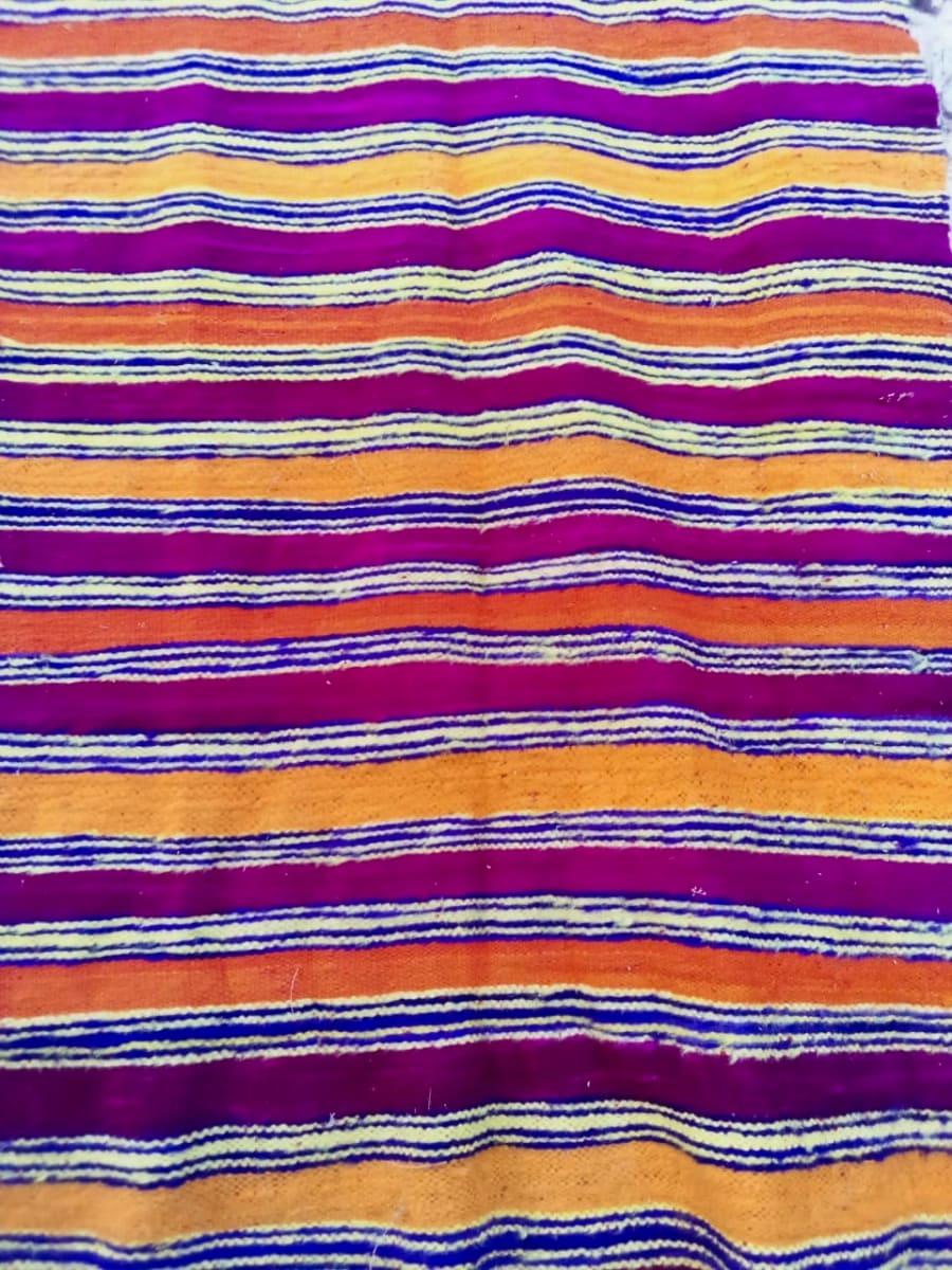 Flatweave Rug Dyed Wool Colored Morocco