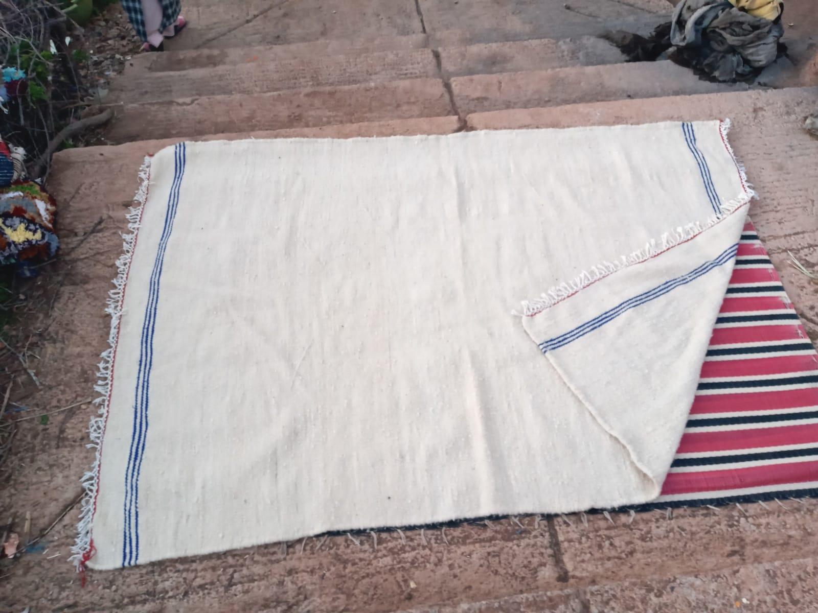 Flatweave rug  Blue, White Morocco