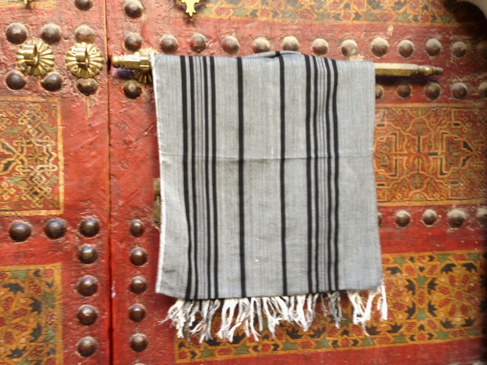Scarf  Grey, Black Morocco