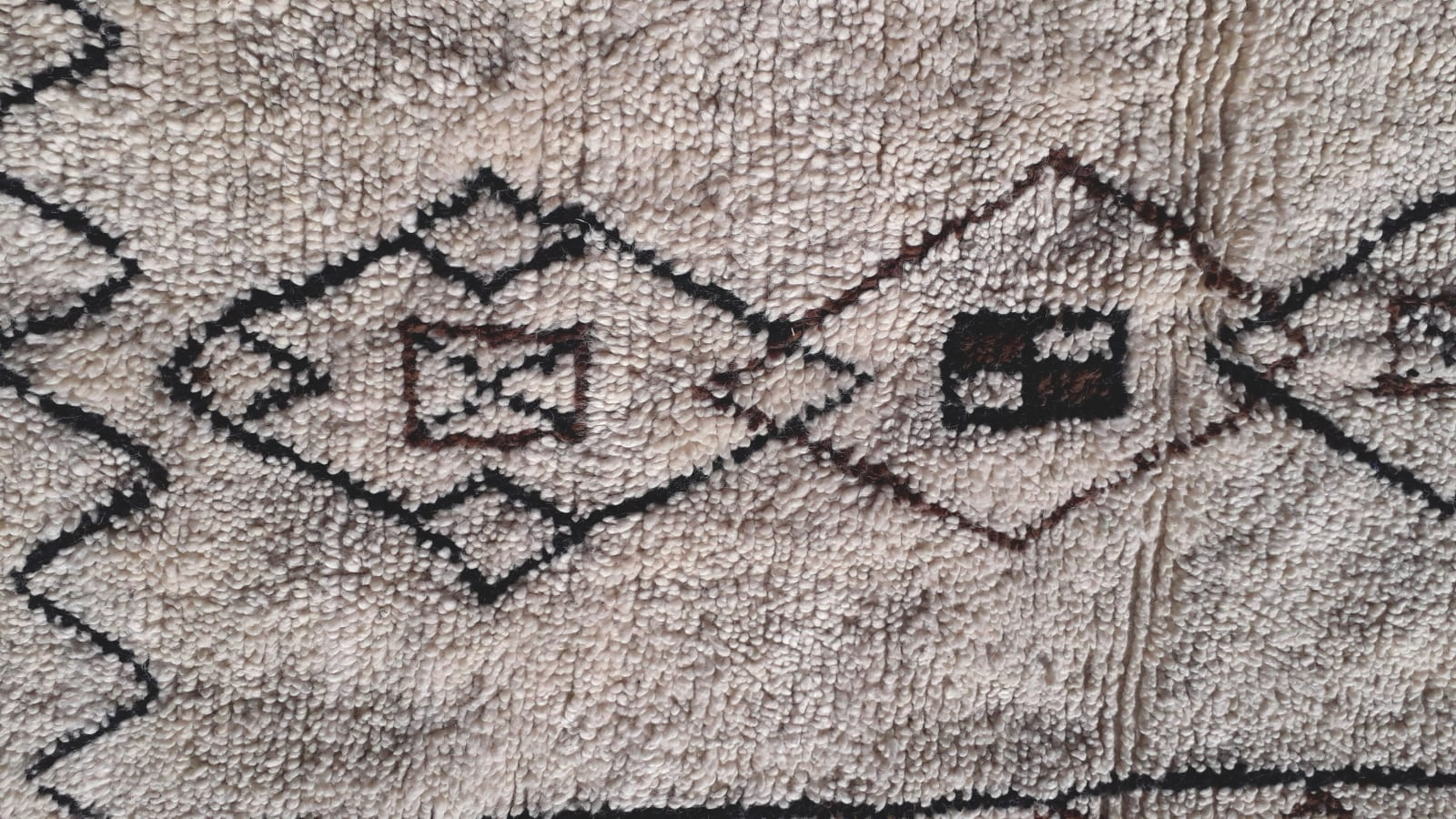 Pile Knot Rug Wool Light Blue, Black Morocco