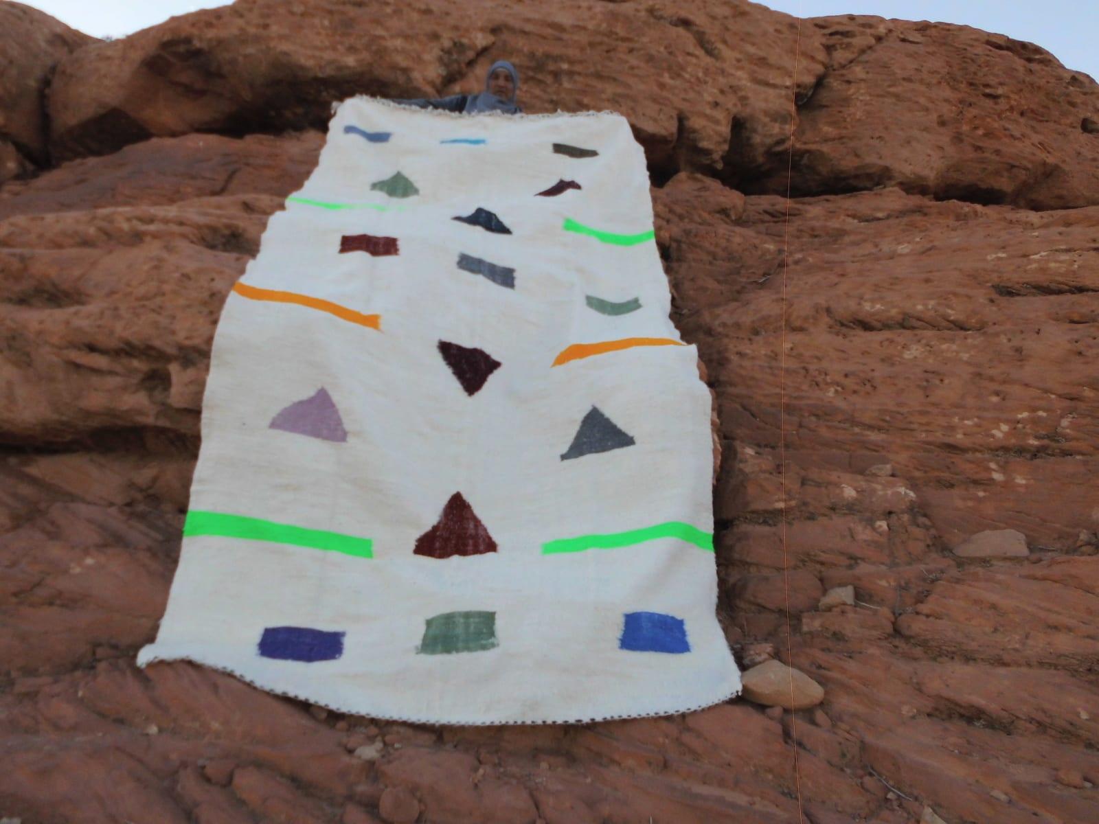 Flatweave Rug  Colored Morocco