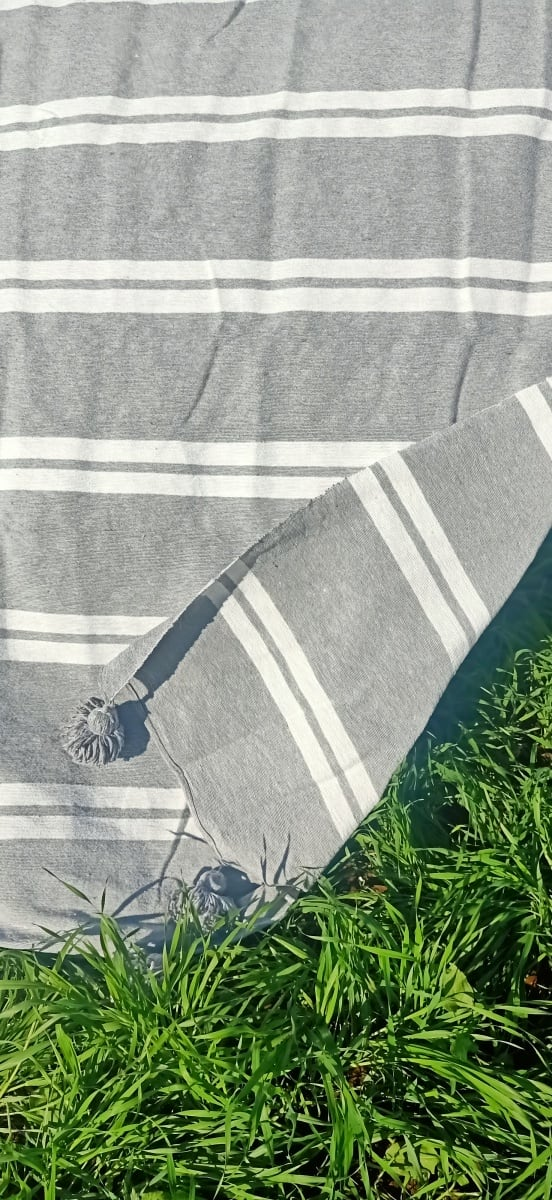 tawel  Grey, White Morocco