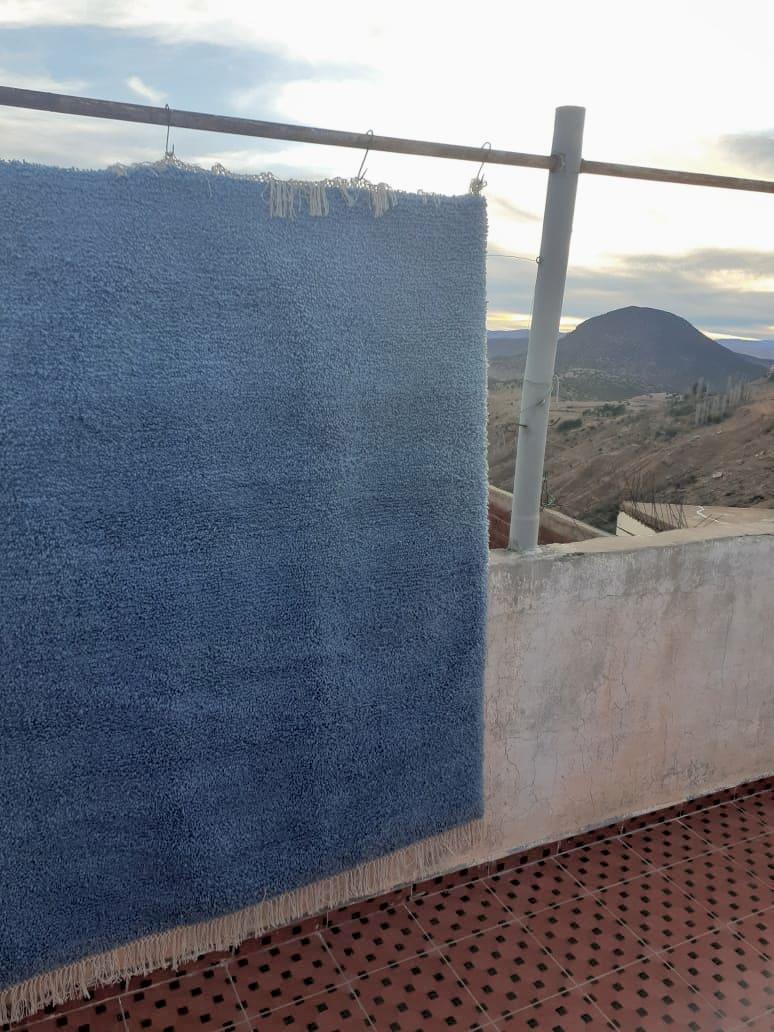 Pile Knot  Light Blue Morocco