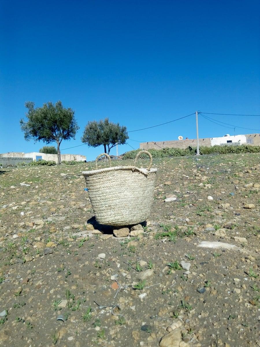Keystone Basket Palm Rope White Morocco