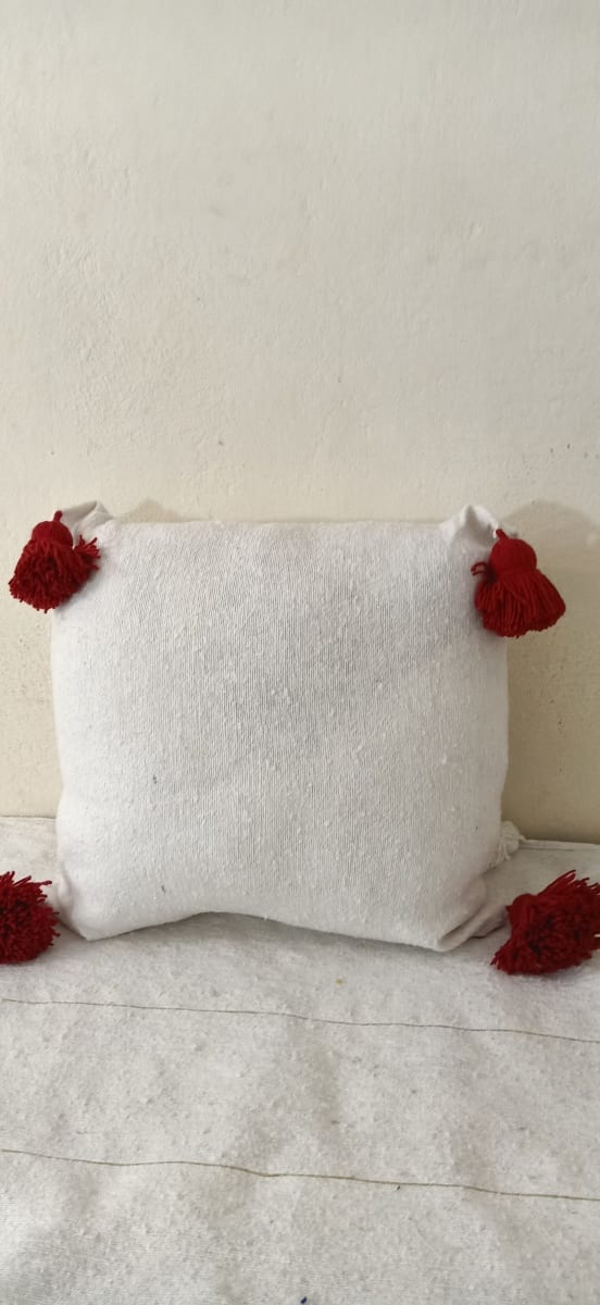 pillow  Red, White Morocco