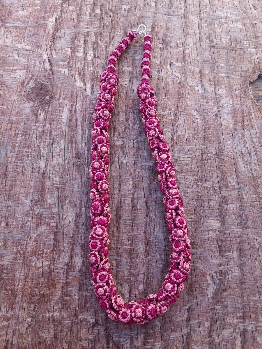 Cluster Necklace  Pink Morocco