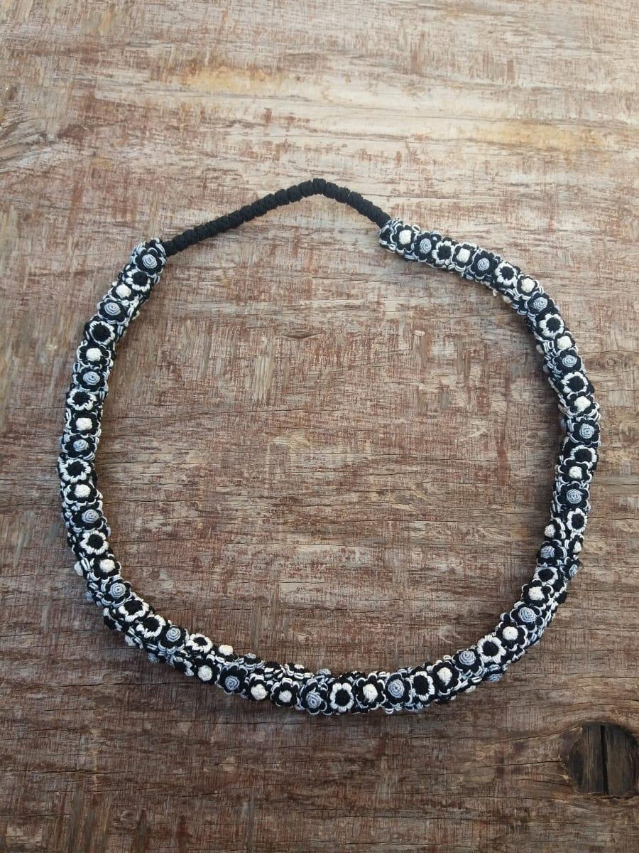 Cluster Necklace  Grey, Black Morocco