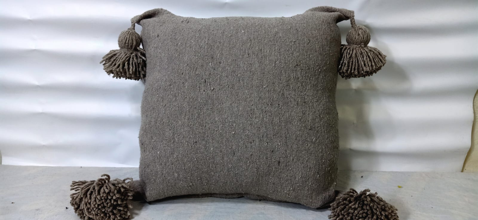pillow Cotton and weft thread  Brown Morocco