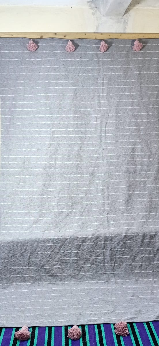 tawel  Pink, Grey Morocco