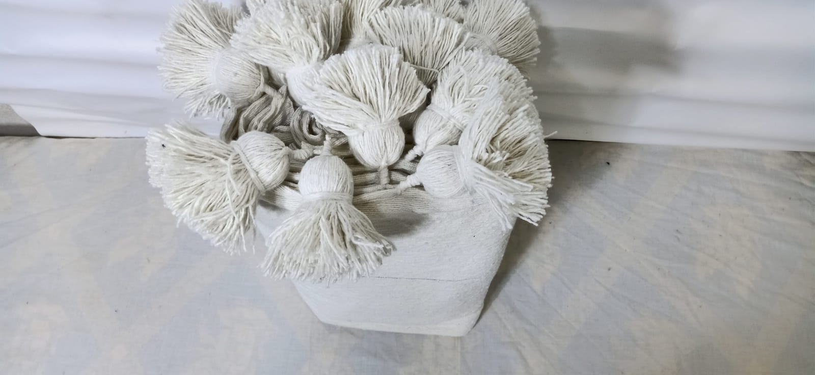 tawel Cotton and weft thread  White Morocco