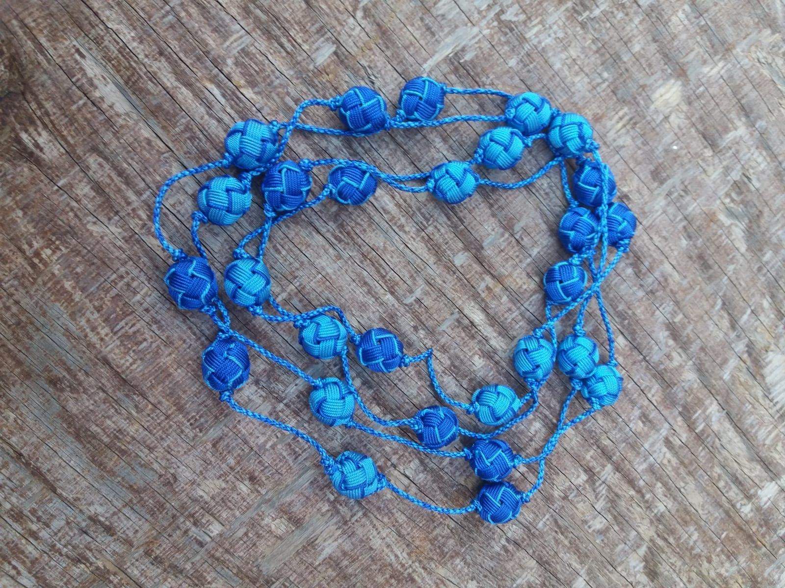 Long Strand Necklace  Light Blue, Blue Morocco
