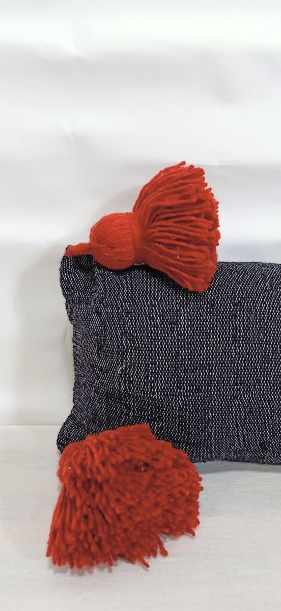 pillow  Red, Black Morocco