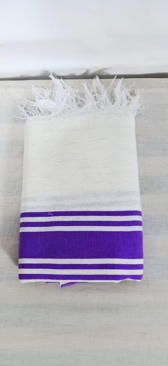 shawl  Purple, White Morocco