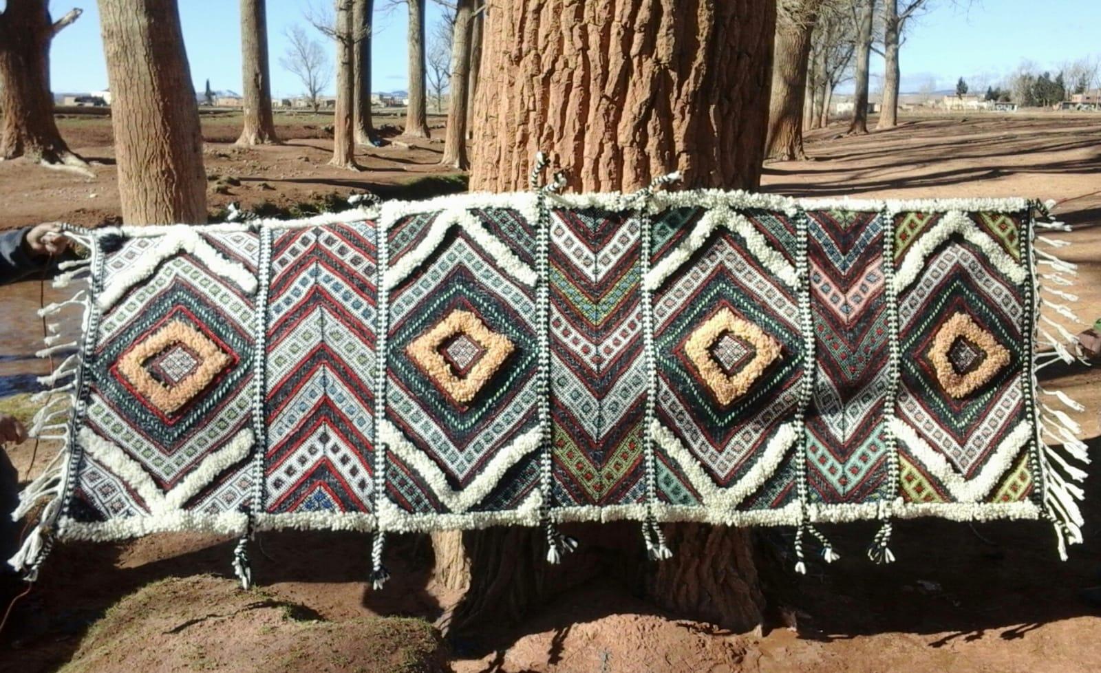 Flat Weave Pile Knot Mix