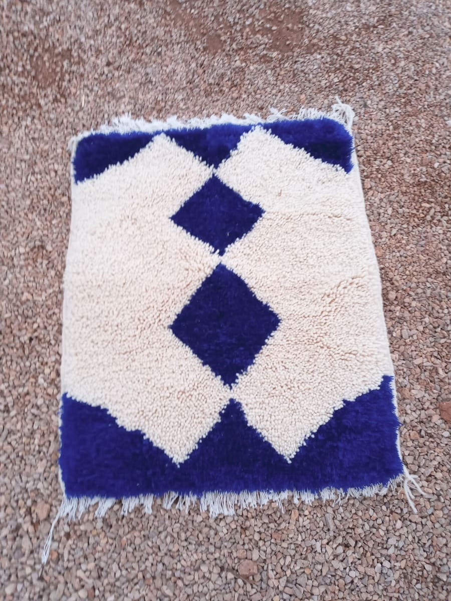 A rug  Blue, White Morocco