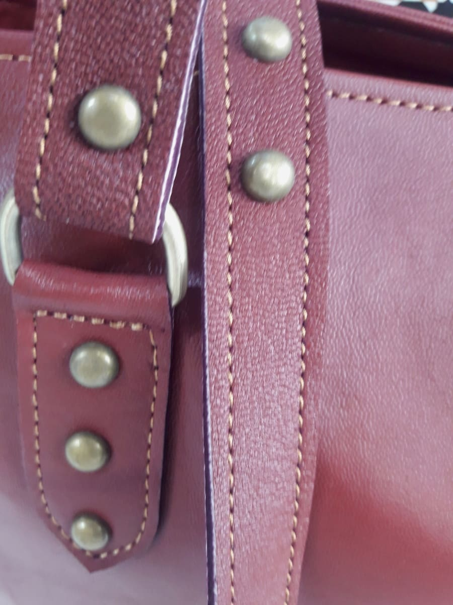 bag leather Red Morocco