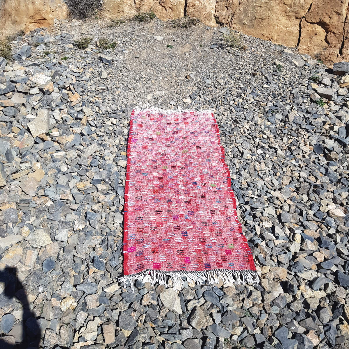 Boucherouite Rug With Recycled Fabric