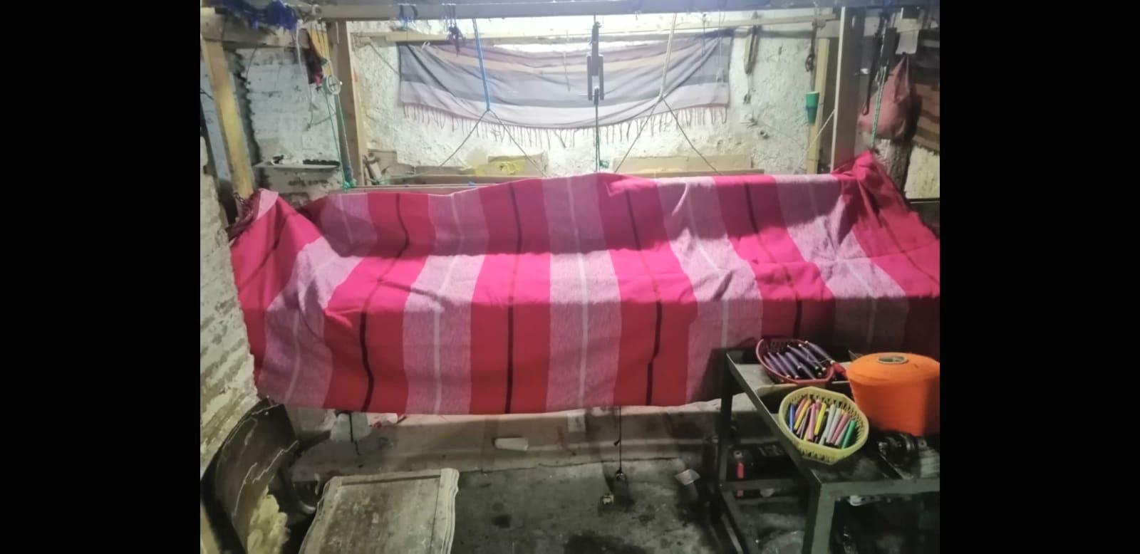 Fabric  Red, Purple Morocco
