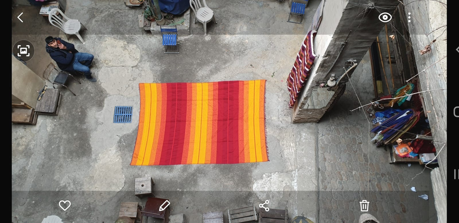 Fabric  Red, Yellow Morocco