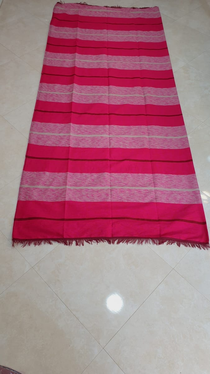 Fabric Cotton string and Wool  Pink Morocco