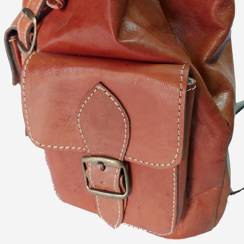 Leather Backpack bag   Morocco