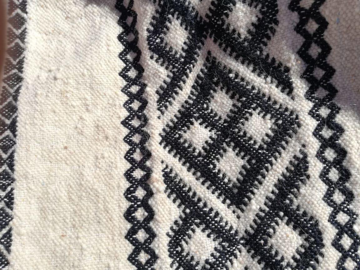 Flatweave  Black, White Morocco