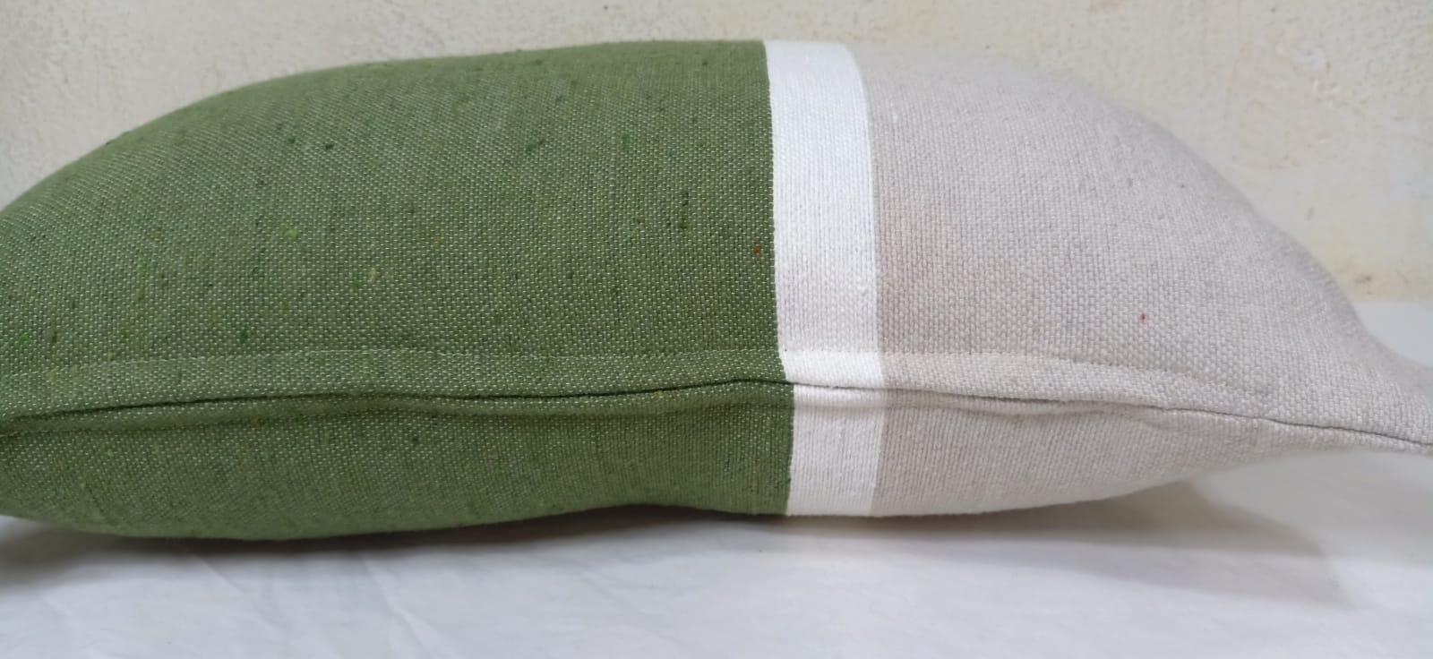 pillow  Green, White Morocco