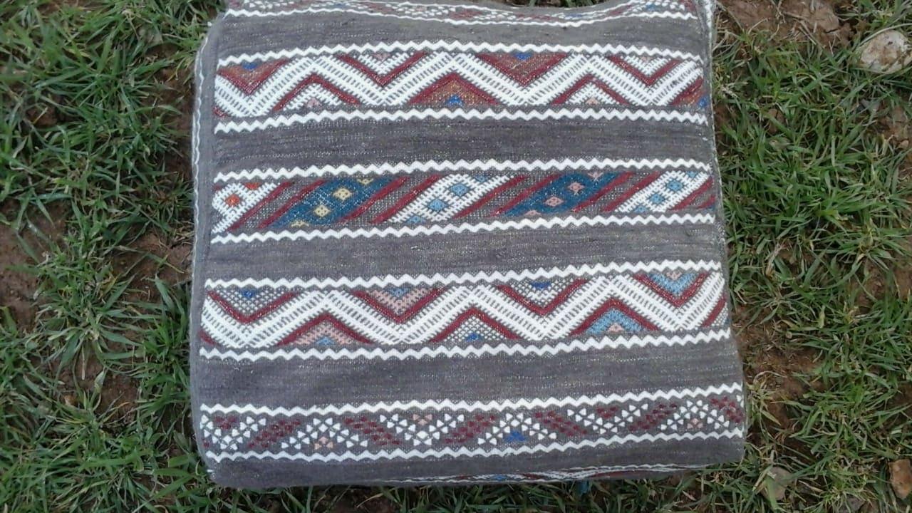 Beni Ourain Rug Cotton Thread Colored Morocco