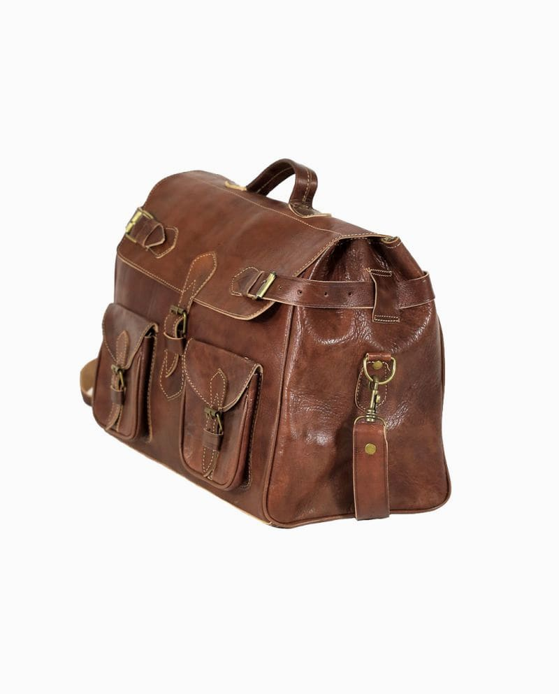 Leather Travel Bag   Morocco