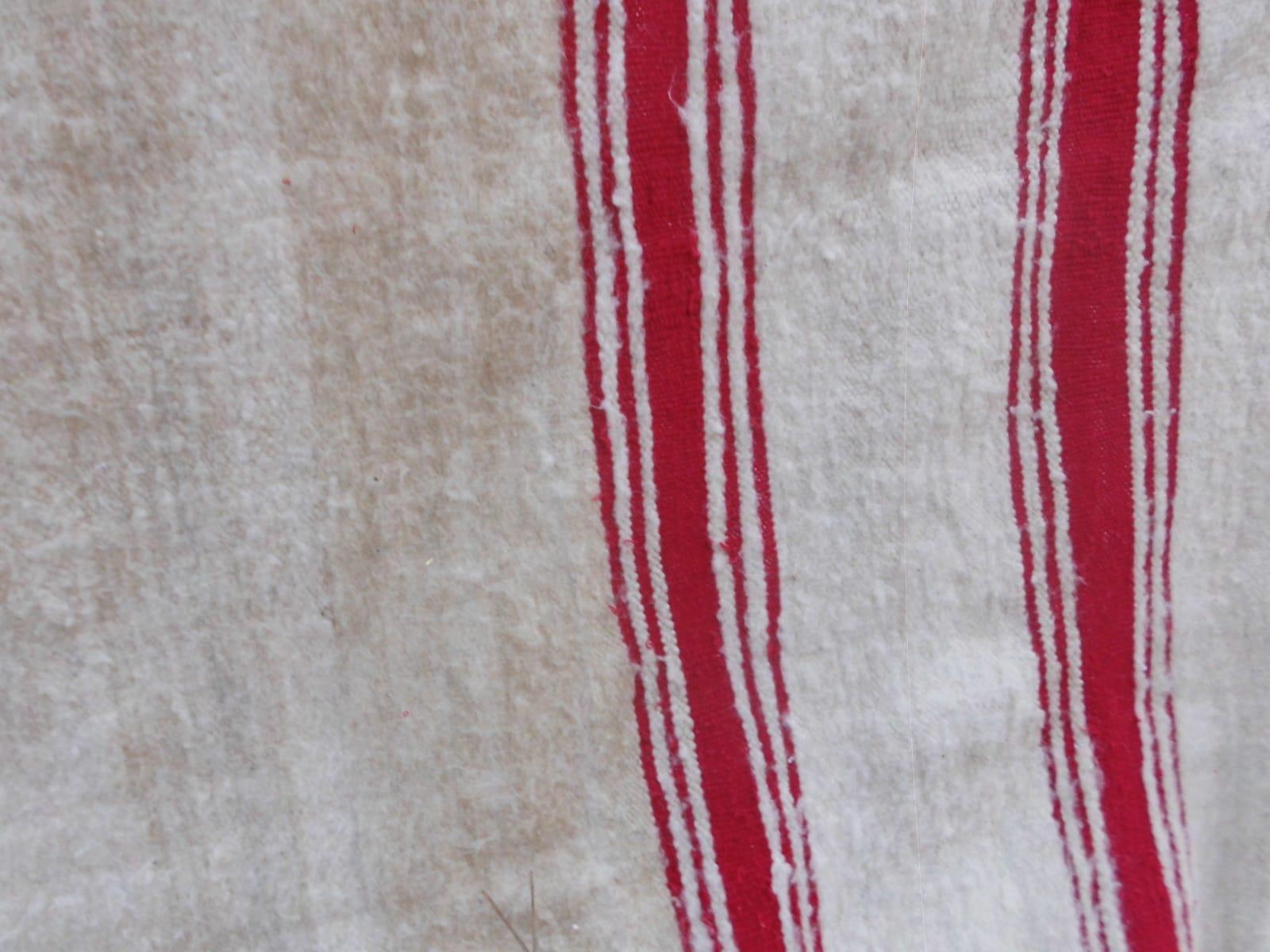 Flatweave Rug  Red, White Morocco