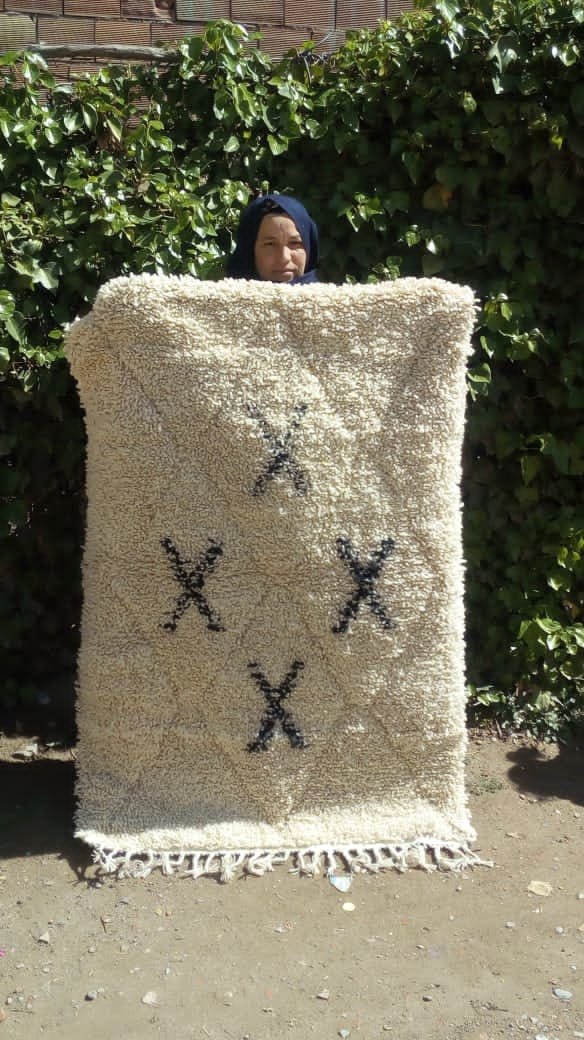 Beni Ourain rug  Black, White Morocco