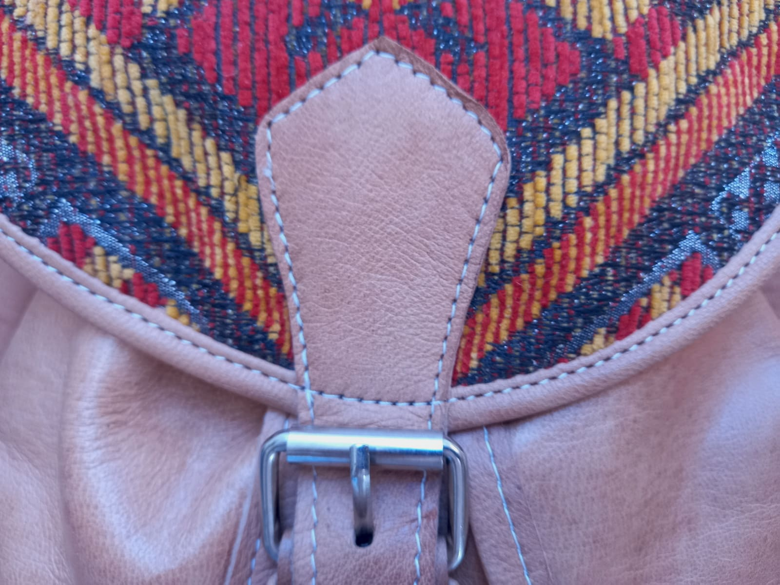 bag leather Red, Yellow Morocco