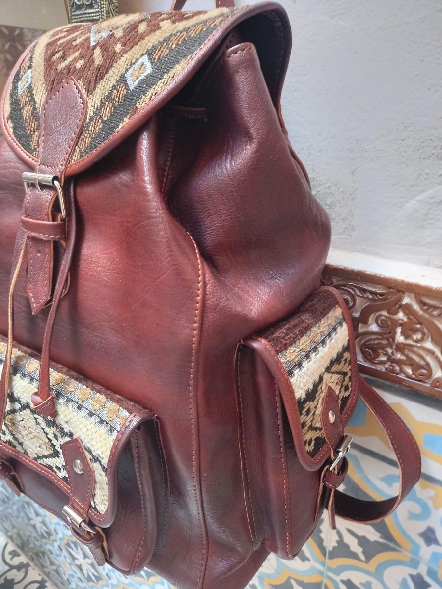 bag leather and Sabra silk Colored Morocco