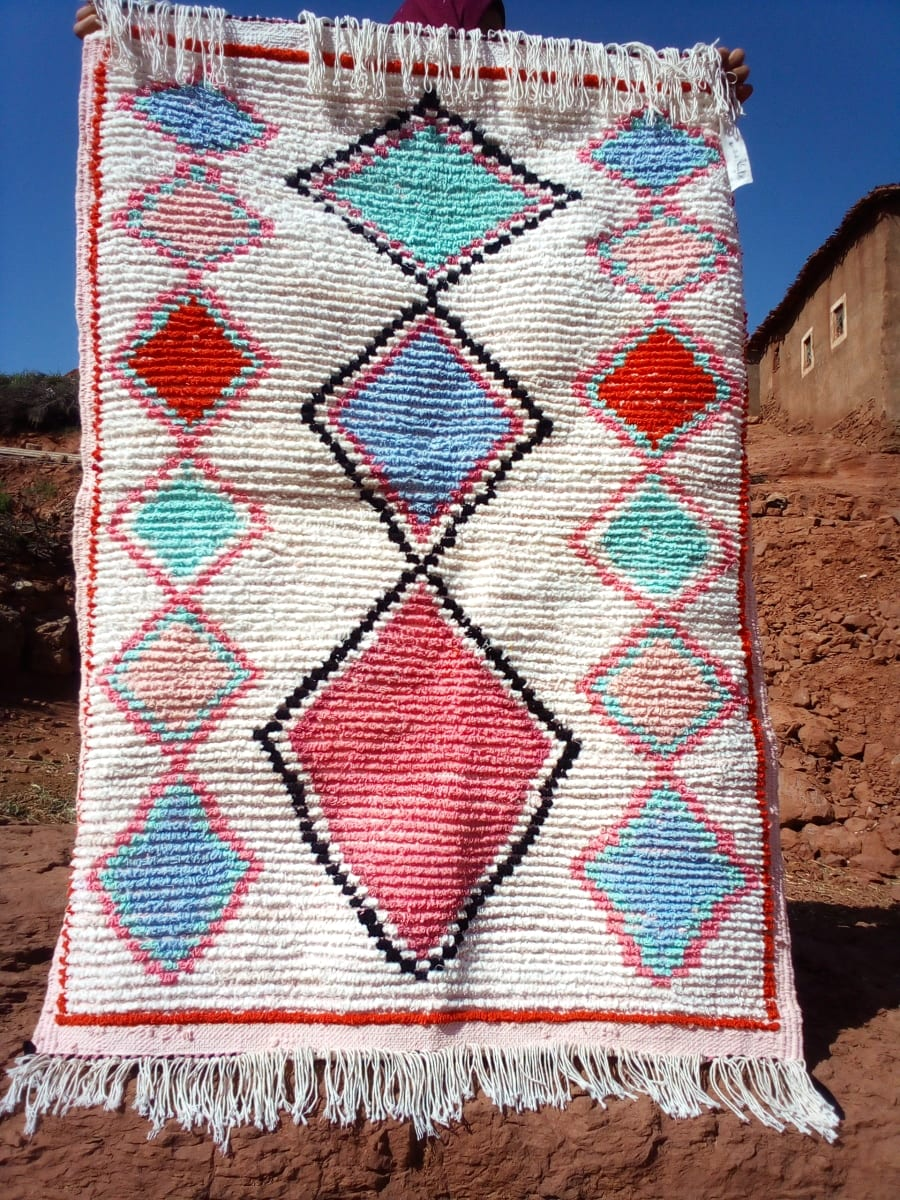 Boucherouite Dyed Wool Colored Morocco