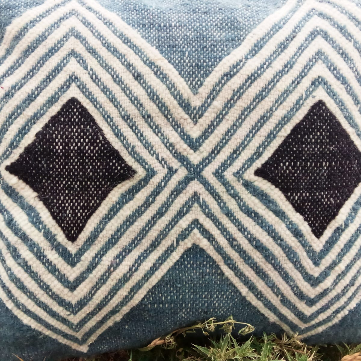 Pillows  Light Blue, Black Morocco