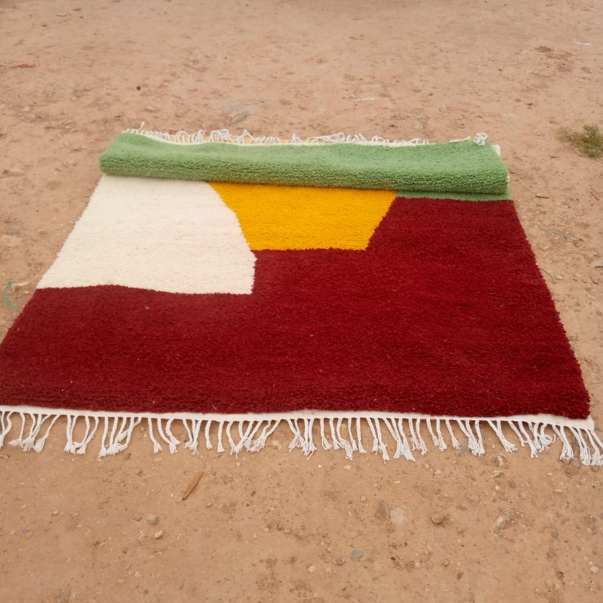 Rug   Red, Yellow Morocco