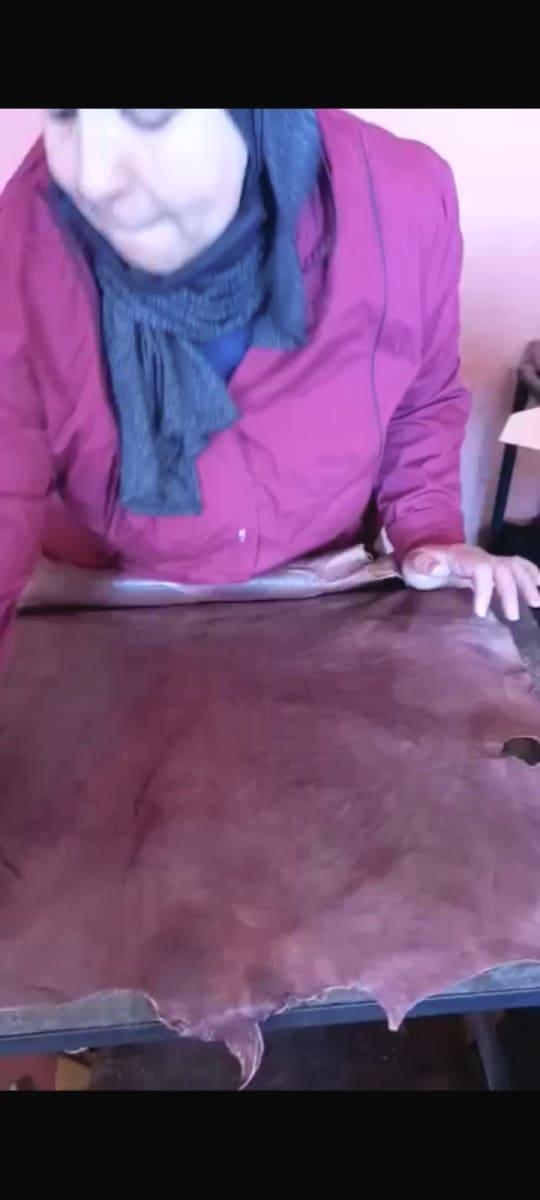 bag leather Green, Brown Morocco