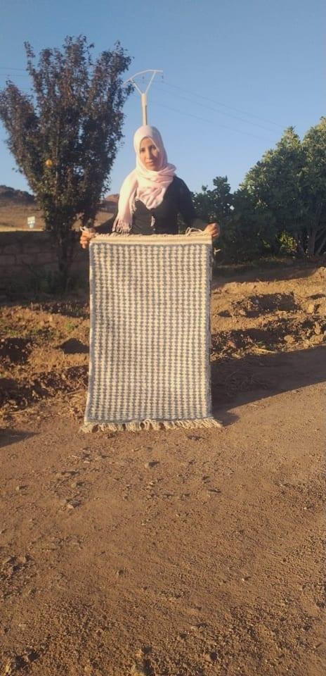 Rug  Blue, White Morocco