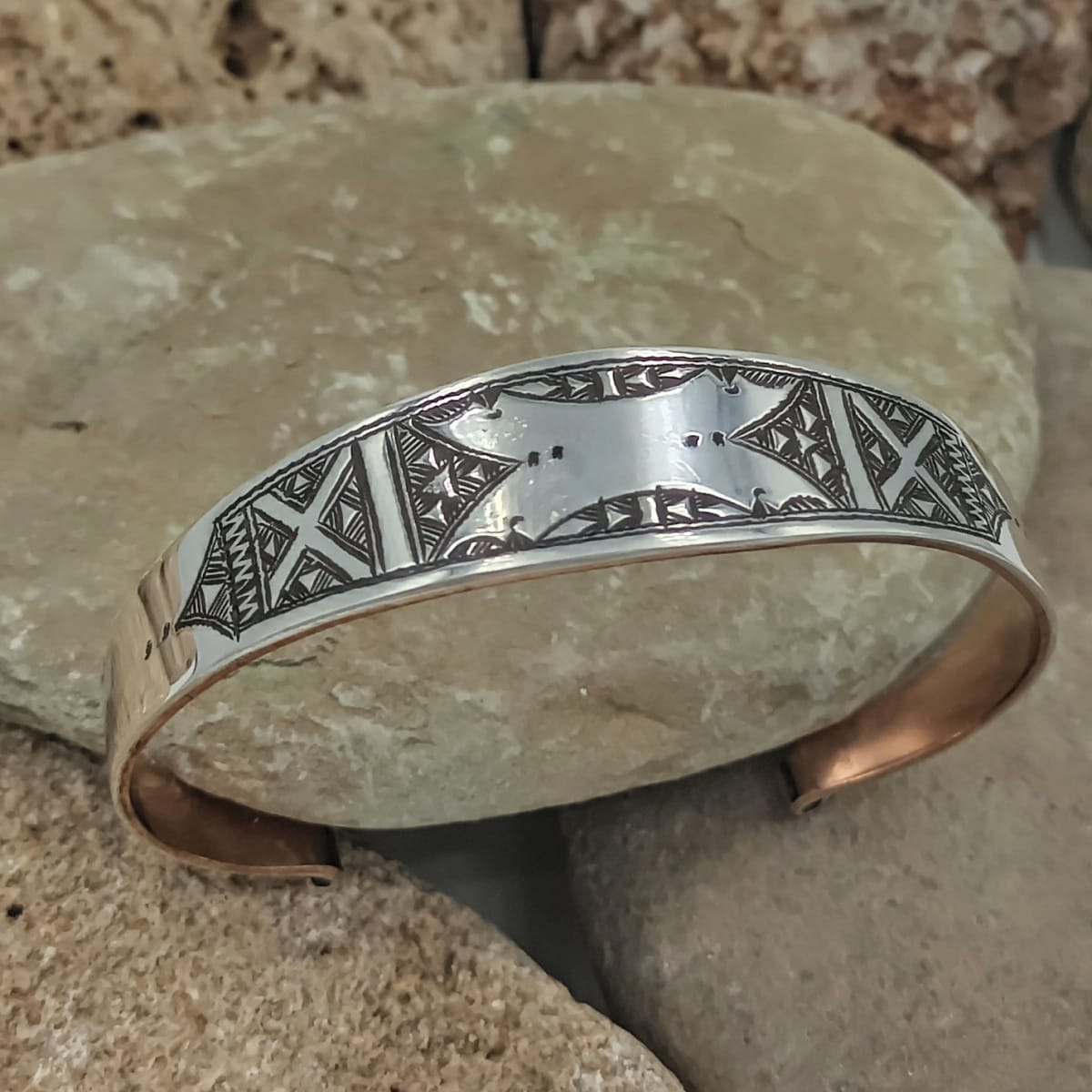 Bracelet 800 Tiznit Silver Orange, Black Morocco
