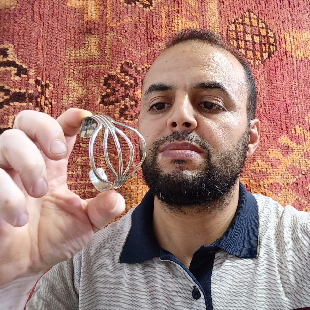 Bracelet 800 Tiznit Silver White Morocco