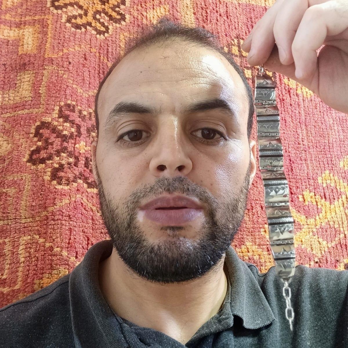 Bracelet  Brown, Black Morocco