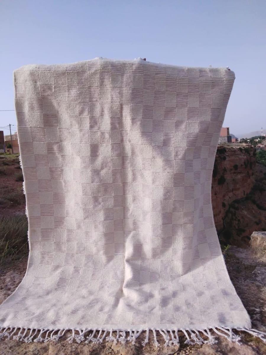 Beni Ourain  Pink, White Morocco