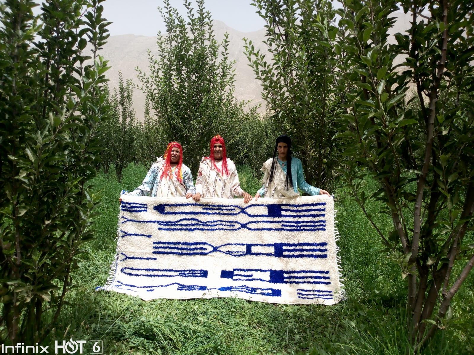 Beni Ourain  Blue, White Morocco