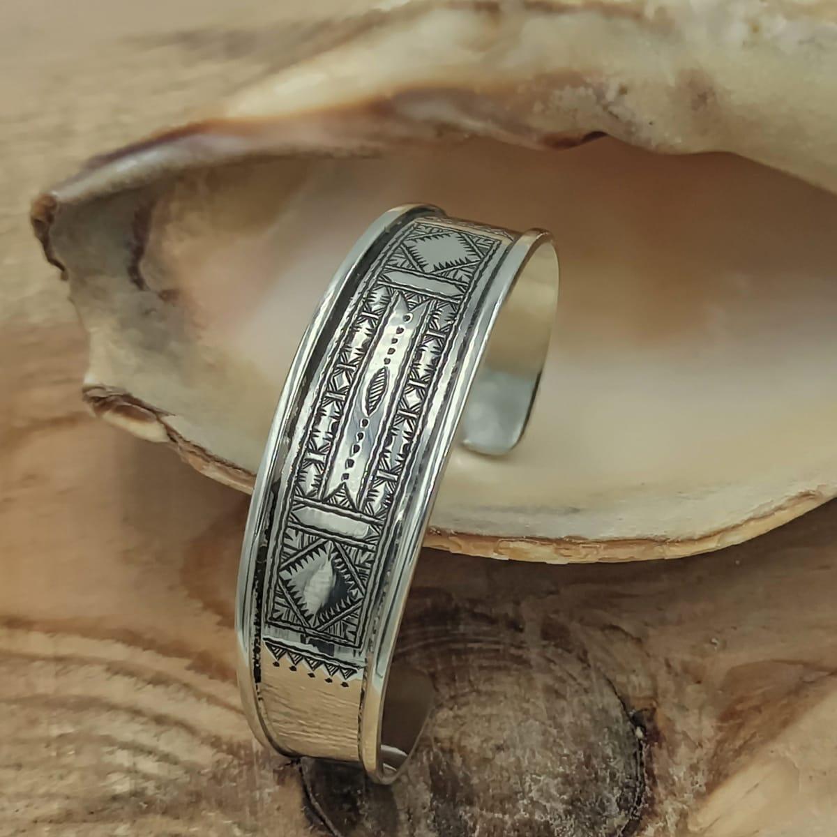 Bracelet 800 Tiznit Silver Black Morocco