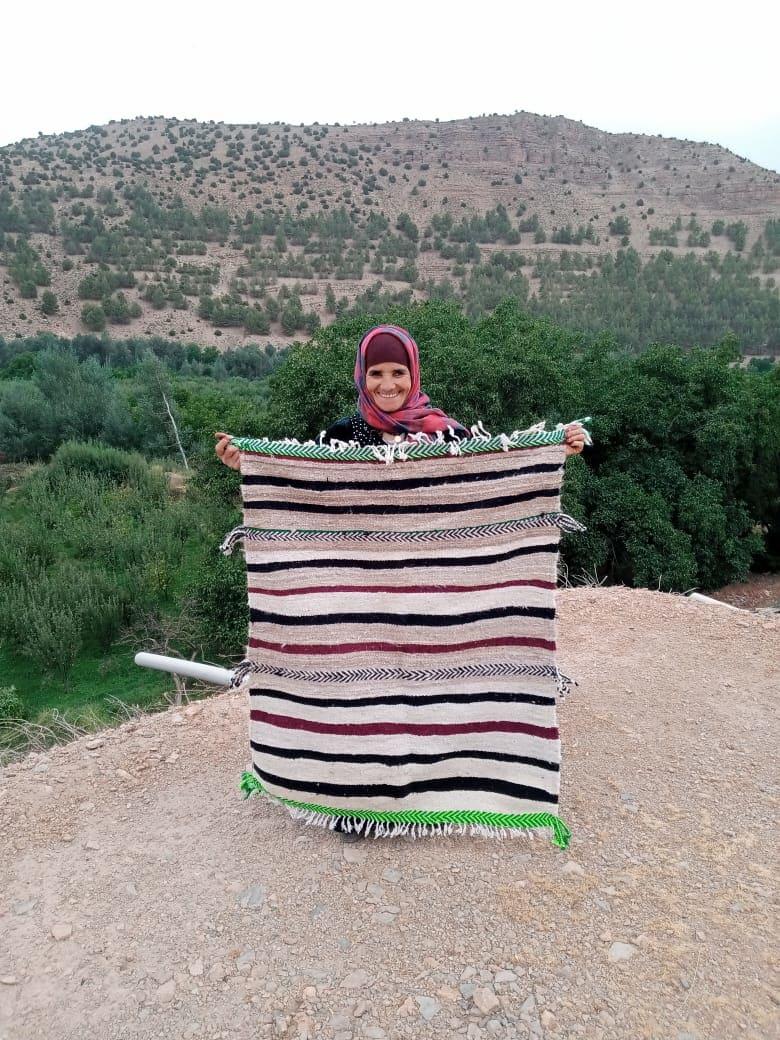 Hanbel blanket   Colored Morocco
