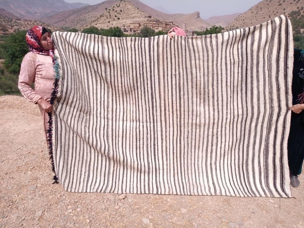 Hanbel blanket   Black, White Morocco