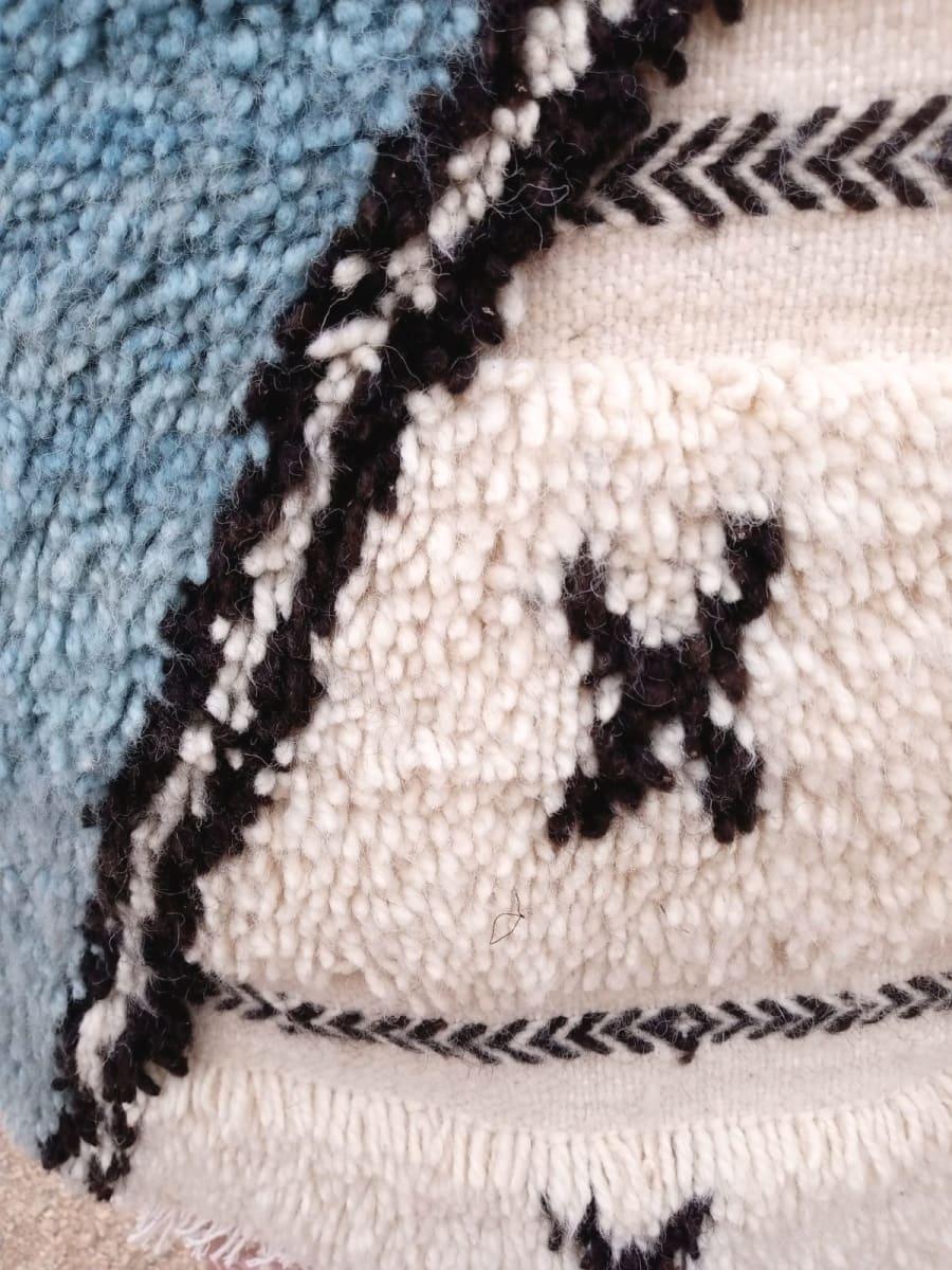 Pile Knot  Light Blue, Black Morocco